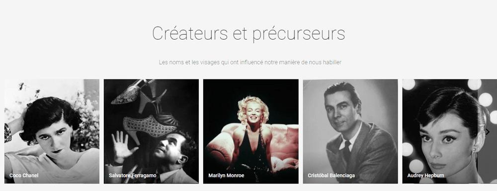 créateurs et précurseurs de la mode